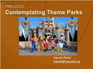 FMA1203Q Contemplating Theme Parks