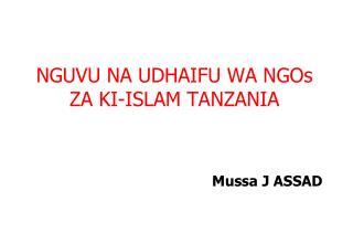 NGUVU NA UDHAIFU WA NGOs ZA KI-ISLAM TANZANIA