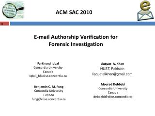 ACM SAC 2010