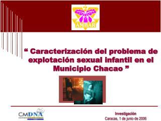 � Caracterizaci�n del problema de explotaci�n sexual infantil en el Municipio Chacao �