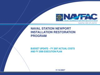 NAVAL STATION NEWPORT INSTALLATION RESTORATION PROGRAM