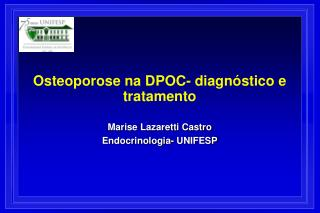 Osteoporose na DPOC- diagnóstico e tratamento