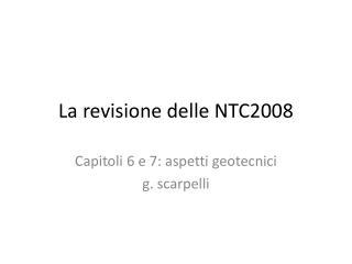 La revisione delle NTC2008