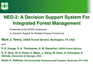 NED-2: A Decision Support System For Integrated Forest Management