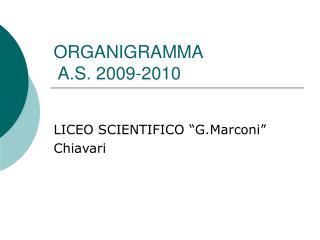 ORGANIGRAMMA  A.S. 2009-2010