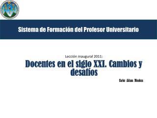 Sistema de Formación del Profesor Universitario