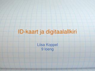 ID-kaart ja digitaalallkiri