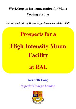 Workshop on  Instrumentation for Muon Cooling Studies