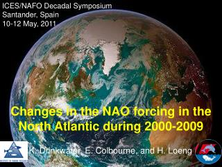 ICES/NAFO Decadal Symposium Santander, Spain 10-12 May, 2011