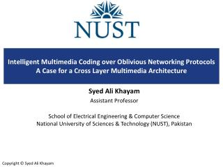 Syed Ali Khayam Assistant Professor