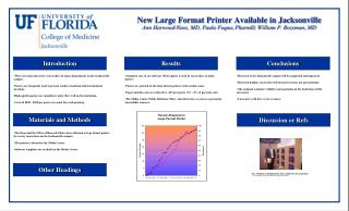 Standard, easy to use software (Powerpoint) is used by researchers to make posters.