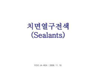 치면열구전색 (Sealants)