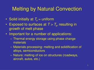 Melting by Natural Convection