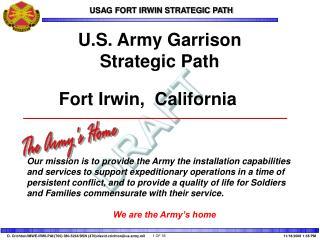 U.S. Army Garrison Strategic Path