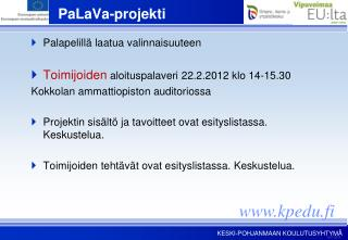 PaLaVa-projekti