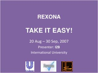 REXONA TAKE IT EASY!