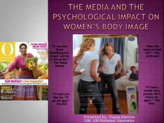 the media and the psychological impact on women's body image