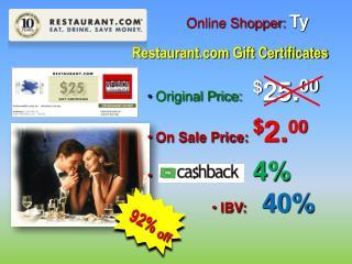 Online Shopper:  Ty