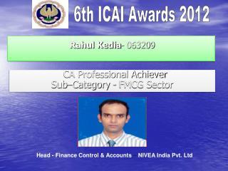 Rahul Kedia - 063209