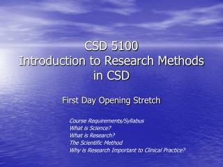 CSD 5100