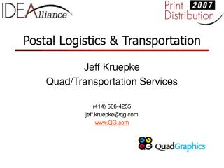 Postal Logistics  Transportation