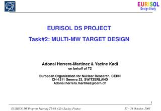 EURISOL DS PROJECT Task#2: MULTI-MW TARGET DESIGN