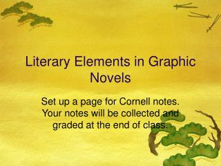 Literary Elements in Graphic Novels