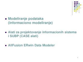Modeliranje podataka (informaciono modeliranje)