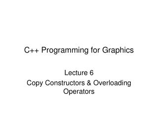 C++ Programming for Graphics