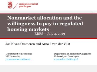 Nonmarket allocation and the willingness to pay in regulated housing markets