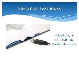 Electronic Textbooks