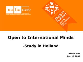 Open to International Minds - Study in Holland