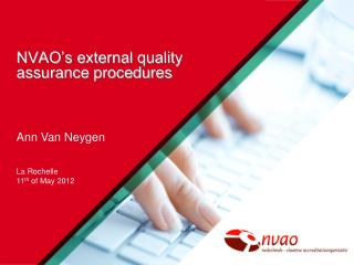 NVAO's external quality assurance procedures