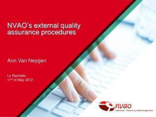 NVAO�s external quality assurance procedures