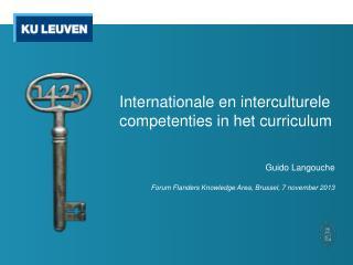 Internationale en interculturele competenties in het curriculum