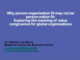 Why person-organisation fit may not be person-nation fit: