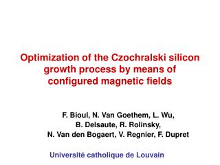 Optimization of the Czochralski silicon growth process by means of configured magnetic fields