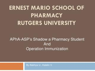Ernest Mario School of Pharmacy Rutgers University