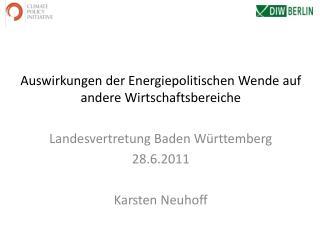 Auswirkungen  der  Energiepolitischen Wende  auf  andere Wirtschaftsbereiche
