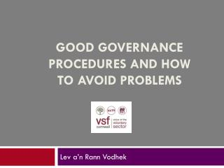 good governance procedures and how to avoid problems