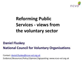 Reforming Public Services - views from the voluntary sector
