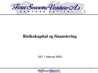Risikokapital og finansiering