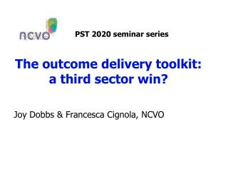 The outcome delivery toolkit:  a third sector win?
