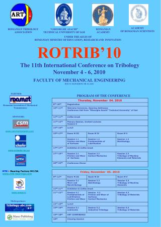 ROMANIAN TRIBOLOGY ASSOCIATION