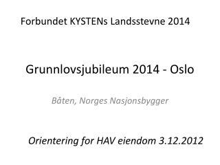 Grunnlovsjubileum 2014 - Oslo