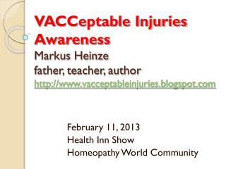 February 11, 2013 Health Inn Show Homeopathy World Community