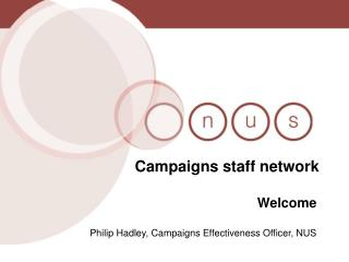 Campaigns staff network