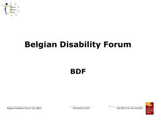 Belgian Disability Forum