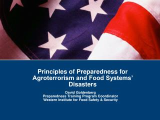 David Goldenberg Preparedness Training Program Coordinator
