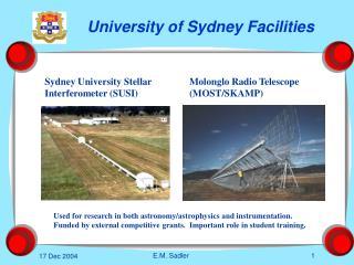 University of Sydney Facilities